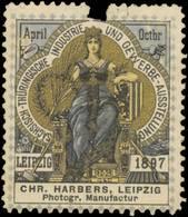 Leipzig: Chr. Harbers Photographische Manufactur Reklamemarke - Erinnophilie