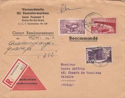 BRIEF SAARLAND.  RECOMMANDÉ CONTRE REMBOURSEMENT SAARBRÜCKEN. Mi  286-321-320  TO FRANCE / 2 - [7] Federal Republic