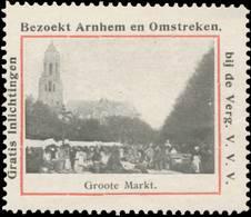 Arnhem: Groote Markt Reklamemarke - Cinderellas