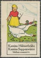 Berlin: Gänse Hüterin Reklamemarke - Vignetten (Erinnophilie)