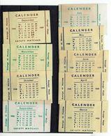 6 ét. Boite Allumettes Calendrier 1958 . - Boites D'allumettes - Etiquettes