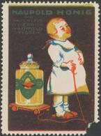 Dresden: Kind Mit Naupold Honig Reklamemarke - Erinnophilie