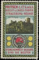Strassburg/Elsaß: Ulrichsburg Reklamemarke - Erinnophilie