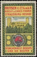 Strassburg/Elsaß: Ruine Andlau Reklamemarke - Erinnophilie