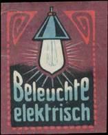 Beleuchte Elektrisch Reklamemarke - Erinnophilie