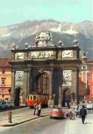 Trains - Tramways - Autriche - Innsbruck - Triumphpforte - Automobiles - Carte Neuve - Voir Scans Recto-Verso - Tramways