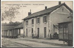07. SAINT-AGREVE - Station Estivale - La Gare 1936 - Saint Agrève