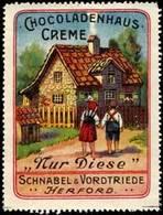 Herford: Chocoladenhaus-Creme Reklamemarke - Erinnophilie