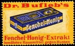 Dr. Buflebs Fenchel-Honig Reklamemarke - Cinderellas