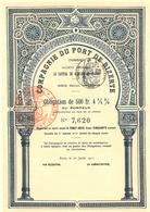 Compagnie Du Port De Bizerte (Tunisie) 1912 - Africa