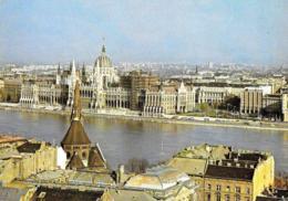 [MD3019] CPM - UNGHERIA - BUDAPEST - IL PARLAMENTO SUL DANUBIO - Viaggiata 1987 - Ungheria