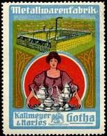 Gotha: Metallwarenfabrik - Fabrikansicht Reklamemarke - Cinderellas