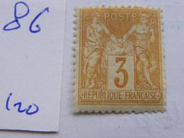 Sage No 86  Neuf * - 1876-1878 Sage (Type I)
