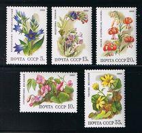 Flowers Full Set Of 5 MNH Sc 5687-5691 Mi 5847-5851 Russia 1988 - 1923-1991 URSS