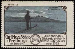 Freiburg / Baden: Skiläufer Auf Dem Feldberg Reklamemarke - Erinnofilia