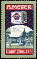 Lippinghausen: Rathaus Herford Reklamemarke - Erinnophilie