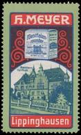 Lippinghausen: Kreishaus Herford Reklamemarke - Erinnophilie