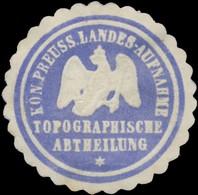 K.Pr. Landesaufnahme Topographische Abtheilung Siegelmarke - Cinderellas