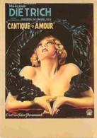 Cinema - Affiche De Film - Cantiques D'Amour - Marlène Dietrich - Voir Scans Recto-Verso - Affiches Sur Carte