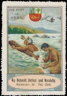 Nürnberg: Die Post In Peru Reklamemarke - Vignetten (Erinnophilie)