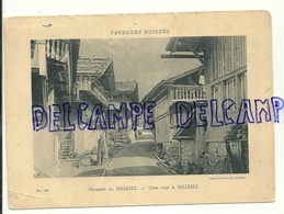 Paysages Suisses. Une Rue à Brienz. Animée. Vers 1920 - Vieux Papiers