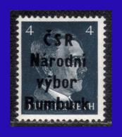 1945 - Checoslovaquia - Ocup. Alemana - Liberacion De La Ciudad De Rumburk. - 04 Pf. - MNH - CH- 002 - Tchécoslovaquie