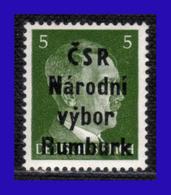 1945 - Checoslovaquia - Ocup. Alemana - Liberacion De La Ciudad De Rumburk. - 05 Pf. - MNH - CH- 003 - Tchécoslovaquie
