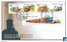 Sri Lanka Stamps 2011, Viceroy Steam Train, Trains, Locomotives, FDC - Sri Lanka (Ceylon) (1948-...)