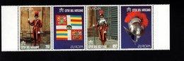 744565844 POSTFRIS  MINT NEVER HINGED EINWANDFREI SCOTT 1039A EUROPA STRIP SWISS GUARD - Vatican