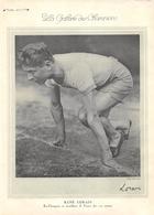 RENE LORAIN Recordman De France Du 100 Mètre Athlétisme  - C.A. GONNET 6 Fois International De Rugby - Sport - Athletics
