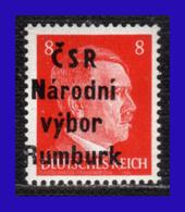 1945 - Checoslovaquia - Ocup. Alemana - Liberacion De La Ciudad De Rumburk. - 08 Pf. - MNH - CH- 005 - Tchécoslovaquie