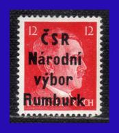 1945 - Checoslovaquia - Ocup. Alemana - Liberacion De La Ciudad De Rumburk. - 12 Pf. - MNH - CH- 006 - Tchécoslovaquie