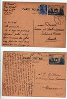 2 Cartes Entier Postaux , Défilé De La Victoire 70 C Et 80 C Rare - Biglietto Postale