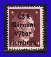 1945 - Checoslovaquia - Ocup. Alemana - Liberacion De La Ciudad De Rumburk. - 15 Pf. - MNH - CH- 007 - Tchécoslovaquie
