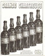 """PUB    """" GRANDE CHARTREUSE  """"  1908  ( 2 ) - Alcohols"""