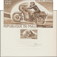 Mali 1976 Y&T 268. Épreuve D'artiste. Motocyclisme, Moto  BMW 900, Allemagne.. Motard Casqué - Motos