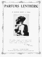"""PUB PARFUM   De  """" LENTHERIC """" Et Jeanne ROSNY   1908 ( 8 ) - Perfume & Beauty"""