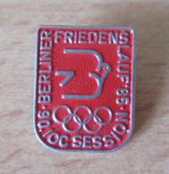 Allemagne De L'Est / DDR / RDA - Insigne Sportif Berliner Friedenslauf'85 - Emblème Jeux Olympiques - TBE - Professionnels/De Société