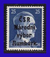 1945 - Checoslovaquia - Ocup. Alemana - Liberacion De La Ciudad De Rumburk. - 25 Pf. - MNH - CH- 008 - Tchécoslovaquie