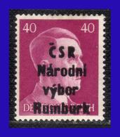 1945 - Checoslovaquia - Ocup. Alemana - Liberacion De La Ciudad De Rumburk. - 40 Pf. - MNH - CH- 009 - Tchécoslovaquie