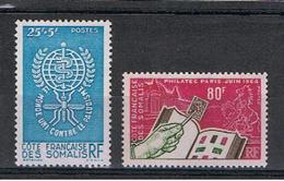 COSTA  DEI  SOMALI:  1962/64  COMMEMORATIVI  -  2  VAL. N. - Nuovi