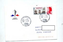 Lettre  Cachet Brest Naval Congres Macrophilie  Borda - Marcophilie (Lettres)
