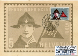 EUROPE:SWITZERLAND:THEME #SCOUTING# SPECIAL COVER #SERIE(S) (SCO-T-280-1 (25) - Scouting