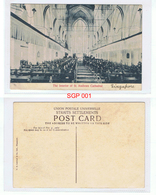 The Interior Of St Andrews Cathedral Singapore Postcard UNPOSTED Circa Early 1900s - Singapore