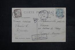 """FRANCE - Taxe De Saacy Sur Carte Postale De Coulommiers En 1905 , Cachet """" Affranchissement Insuffisant """" - L 26909 - Marcophilie (Lettres)"""