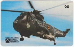BRASIL H-590 Magnetic Telebras - Military, Helicopter - Used - Brésil