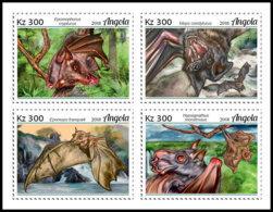 ANGOLA 2018 MNH Bats Fledermäuse Chauves-souris 4v - OFFICIAL ISSUE - DH1906 - Chauve-souris