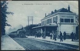 Franconville - Arrivée Du Train Pour Paris - Edit. Arbonel N° 24 - Timbre Expo Coloniale 1931 Paris - Voir 2 Scans - Franconville