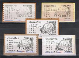 TAILANDIA:  2006/08  AUTOADESIVI  -  5  VAL  N. - Tailandia