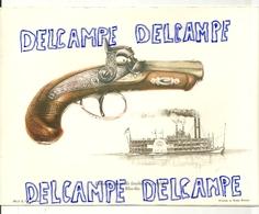 16,5/ 22 Cm. Image De Revolver Deringer (mused Loaded. Steam Boat. Illustration De J Pritchard - Vieux Papiers